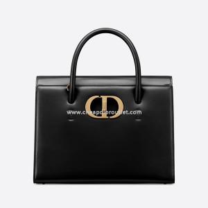 Dior Large ST Honore Tote Box Calfskin Black