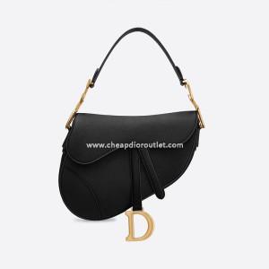 Dior Saddle Bag Grained Calfskin Black