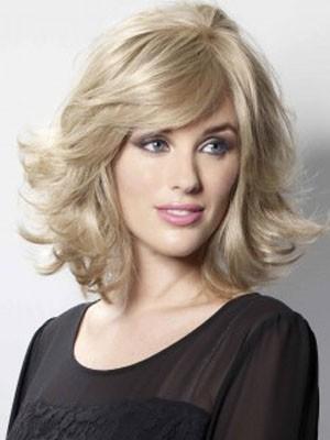 Modern Capless Wavy Human Hair Wig, Cheap Wigs