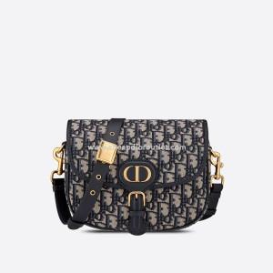 Medium Dior Bobby Bag Oblique Jacquard Blue
