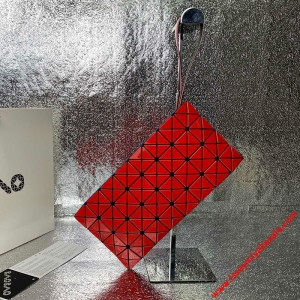 Bao Bao Issey Miyake Prism Wristlet Pouch Red