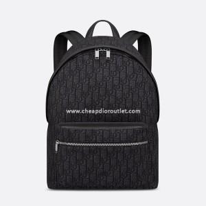Dior Rider Backpack Oblique Jacquard Black