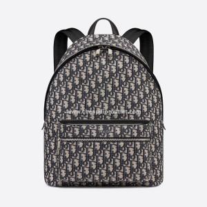 Dior Rider Backpack Oblique Jacquard Blue