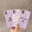 まぼろし紫のグッチ花柄アイフォン iphone12/12pro max/12mini/12proスマホケースマカロン紫 シャネル  ...