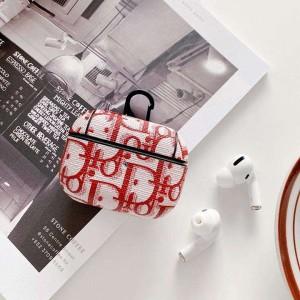楕円形 Dior ブランド 送料無料 ロゴ付き Dior Airpodsケース オシャレ 縞 Airpods Pro ケース 流行り  ...