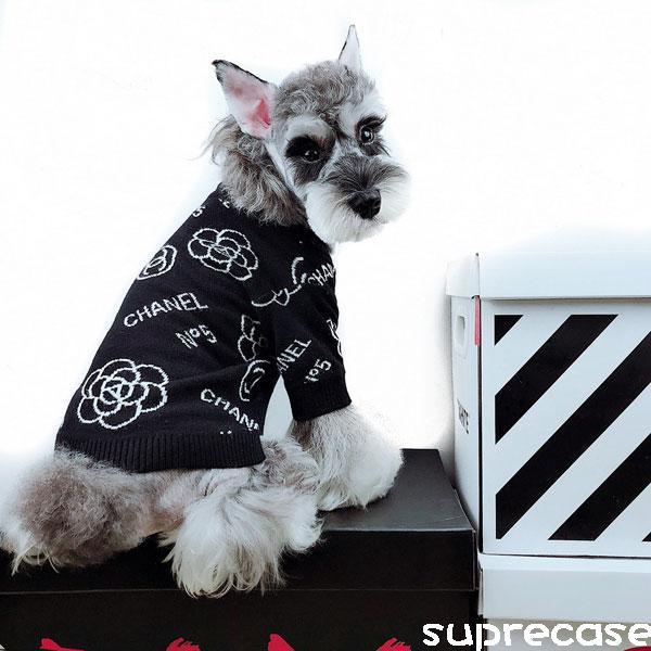 送料無料!小型犬、大型犬まで取り揃えております。伸びの良いスウェット素材シャネル犬の服です。 htt ...