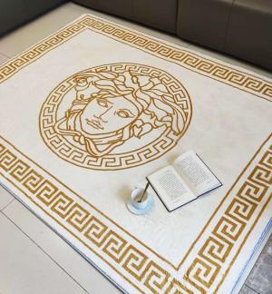 ヴェルサーチ ロゴ付き versace絨毯 柔らかい 洗濯機洗い可能 書斎 高品質 おしゃれ 抽象的 ハイブラン ...