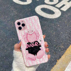 kaws アイホン12 mini ライチテクスチャ 保護ケース iPhone 12pro max 送料無料 携帯ケース シリコン  ...